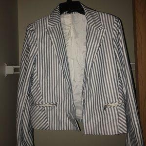 Express Pin Striped Blazer-Size Large